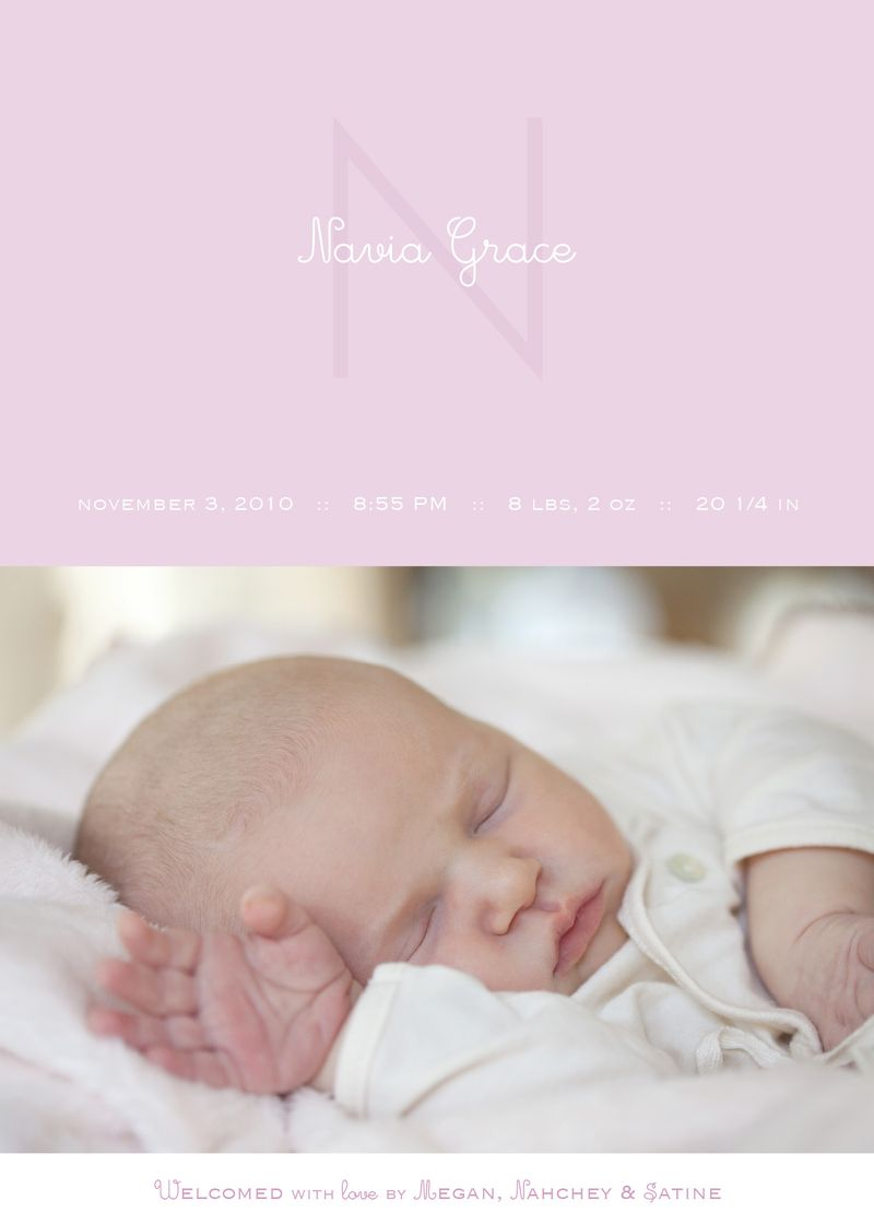 Navia Grace announcement